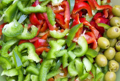 Paprika salat Stock Photography