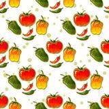 Paprika seamless pattern Stock Images