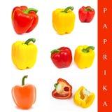 Paprika set Royalty Free Stock Photography
