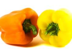 Paprika - sinaasappel en geel Stock Fotografie
