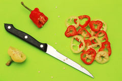 Paprika slices Stock Photography