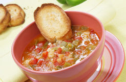 Paprika soup Royalty Free Stock Image