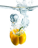 Paprika with splash Royalty Free Stock Photo