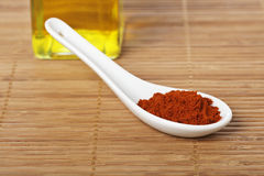 Paprika in the spoon Stock Image