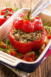 Paprika Stuffed with Minced Meat Stock Image