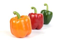 Paprika - Sweet Pepper. Closeup of 3 sweet pepper Royalty Free Stock Photo