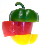 Paprika Tricolor em uma Imagem de Stock Royalty Free
