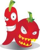 Paprika und Tomate Lizenzfreies Stockbild