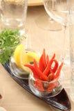 Paprika und Zitrone stockbild