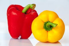 Paprika, Vegetables, Yellow, Red Stock Photography