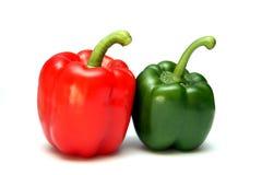 Paprika vermelha e verde Fotografia de Stock