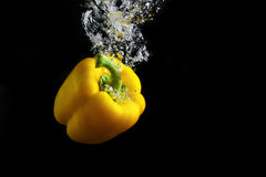 Paprika in water Stock Photo