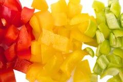 Paprika on white background Stock Photos