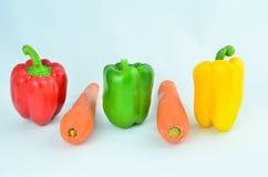Paprika y zanahoria Fotos de archivo libres de regalías