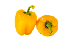 Paprika yellow healthy food nutrition isolated Stock Photo