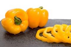 Paprikas amarillos Imagen de archivo libre de regalías