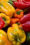Paprikas colorés au marché de l'agriculteur Photos libres de droits