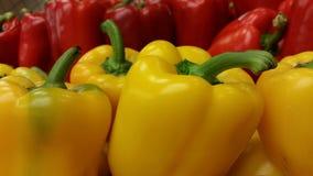 Paprikas en amarillo y rojo Imagen de archivo libre de regalías