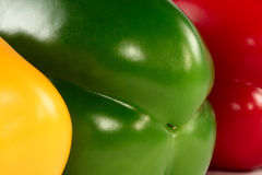 Paprikas red, green, yellow Royalty Free Stock Image