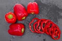 Paprikas rojos Imágenes de archivo libres de regalías