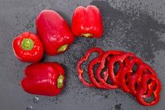Paprikas rojos Fotos de archivo