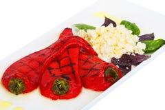 Paprikas rojos Foto de archivo libre de regalías