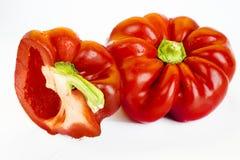 Paprikas rojos Nutrición, rellena , Fotos de archivo