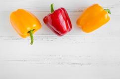 Paprikas rouges de jaune orange Photo stock