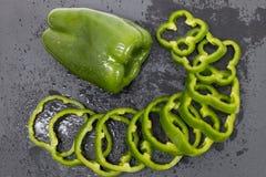 Paprikas Verdes Imagen de archivo libre de regalías