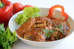 Paprikash en groenten royalty-vrije stock afbeelding