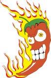 papryka chili czerwone gorące royalty ilustracja
