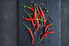 papryka chili czerwone gorące Obraz Stock