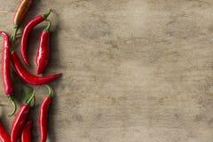 papryka chili czerwone gorące Zdjęcie Royalty Free