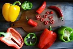 Papryka i chili pieprz Fotografia Stock