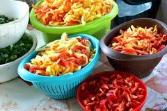 Papryki tomatoe dla jarskiego kucharstwa obraz royalty free
