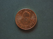Papst Benedikt XVI. 50-Cent-Münze Stockfoto