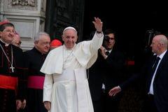 Papst Bergoglio Francesco in Florenz Stockbilder