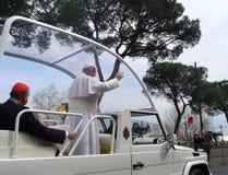 Papst Francis in Neapel Lizenzfreie Stockfotos