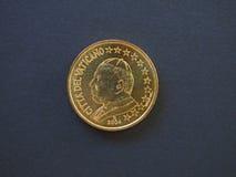 Papst John Paul II 50-Cent-Münze Lizenzfreie Stockfotografie