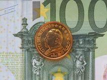 Papst John Paul II 50-Cent-Münze Stockfoto