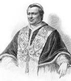 Papst Pius IX stock abbildung