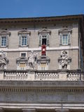 Papst in Vatikan-Fenster Lizenzfreie Stockfotos