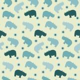 papttern seamless enkelt för flodhäst royaltyfri illustrationer