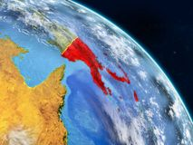Papuásia-Nova Guiné do espaço ilustração do vetor