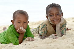 Papua Kids Stock Photo
