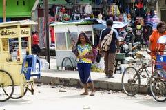 Papua kobieta przy Nową gwinei wyspą fotografia royalty free