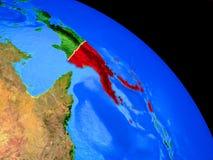 Papua-Neu-Guinea auf Planet Erde vektor abbildung