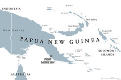 Papua-Neu-Guinea politische Karte vektor abbildung