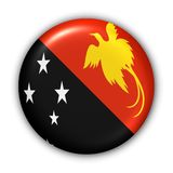 Papua New Guinea. World Flag Button Series - Oceania - Papua New Guinea (With Clipping Path Royalty Free Stock Photos