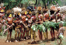 Papua New Guinea. Tribal dance Royalty Free Stock Photography